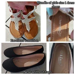 Part NWOT, Bundle of girls size 1 shoes